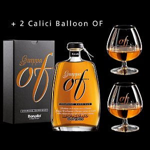 Details: Grappa OF Amarone Barrique Bonollo inkl. 2 Calici Balloon OF