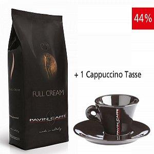 Full Cream - aroma intenso e cremoso inkl. 1 Cappuccino Tasse schwarz