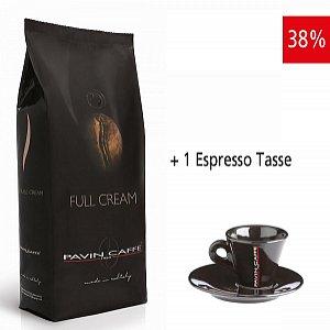 Details: Full Cream - aroma intenso e cremoso inkl. 1 Espresso Tasse schwarz