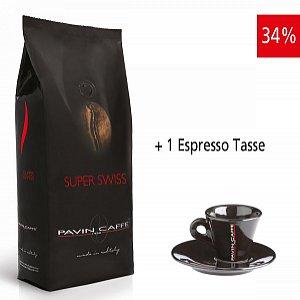 Super Swiss - aroma ricco ed intenso inkl. 1 Espresso Tasse schwarz