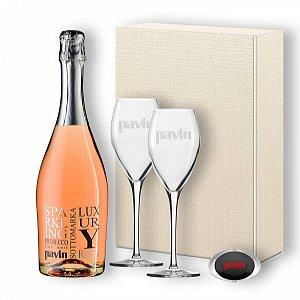 Details: Prosecco Rosé DOC Millesimato Brut Luxury - Geschenkset