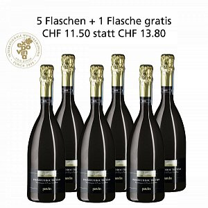 5 + 1 Fl. gratis Prosecco DOC Treviso Spumante Extra Dry