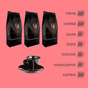 3 x 1kg Bohnenkaffee Super Swiss - Pavin Caffè + 1 Tasse Espresso gratis dazu