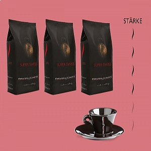 Super Swiss - Bohnenkaffee + 1 gratis Tasse Cappuccino