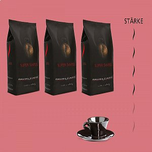 Super Swiss - Bohnenkaffee + 1 gratis Tasse Espresso