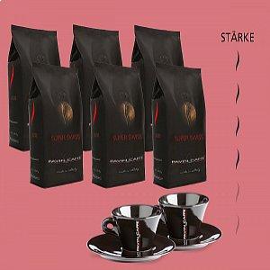 Super Swiss - Bohnenkaffee + 2 gratis Tassen Cappuccino