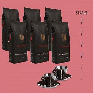 Details: Super Swiss - Bohnenkaffee + 2 gratis Tassen Espresso